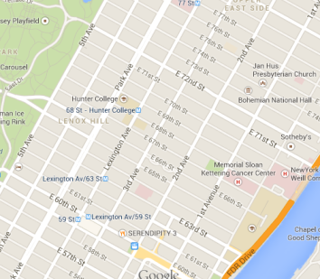 Lenox Hill Map (Static Map)