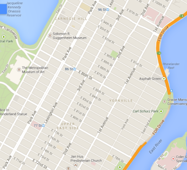 Upper East Side Map (Static Map)