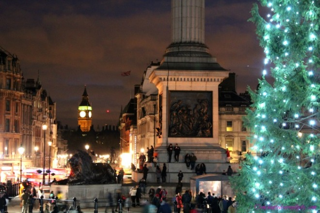 London at Christmas: Trafalgar Square Christmas Tree