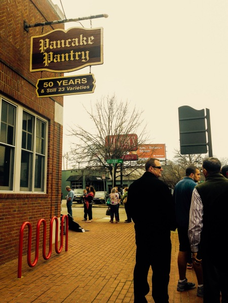 Joining the line at Pancake Pantry