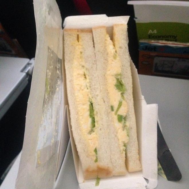 Egg sandwich, Jetstar