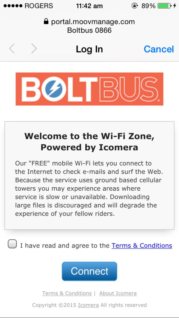Bolt Bus Wifi