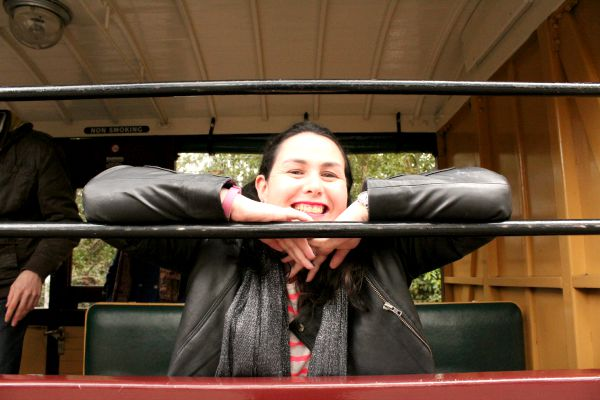 My Friend Jess On Puffing Billy