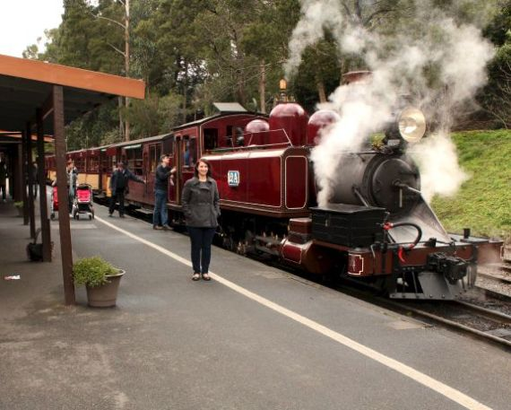 Me at Puffing Billy