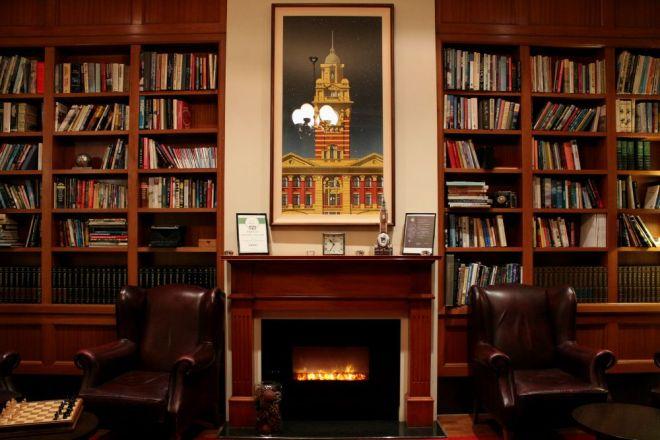 Sitting Area, Grand Hotel Melbourne